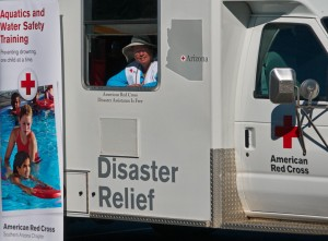 We drove the Red Cross Emergency Response Vehicle (ERV) to a PR event near Tucson